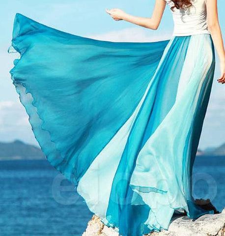 0bb0a9a5ac8dc Plus Size Beach Skirts Long Women Skirts New Beach Bohemia Long Chiffo –  Honeybee Line