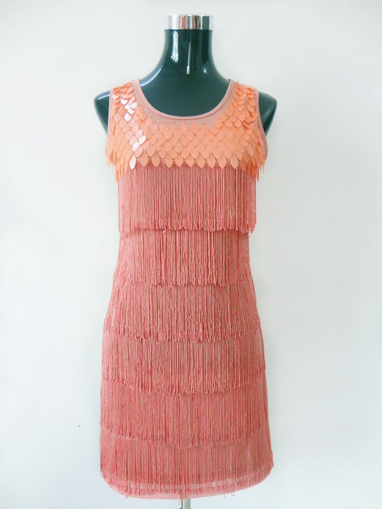 SEQUIN FRINGES WOMAN PARTY DRESSES GREAT GATSBY FRINGE 1920s STYLE ...