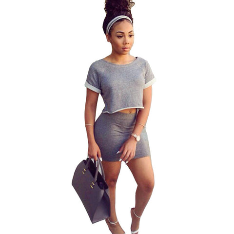 Sexy Club Dress 2016 Summer Women Two Piece Outfits Caual Short