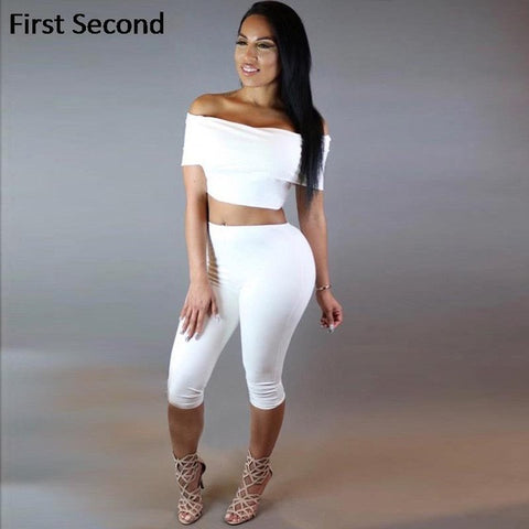 6c3357665935 Summer Women Two Piece Outfits Pants Set Rompers Jumpsuit Calf-Length Pants 2  Piece Set
