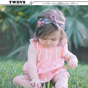 Kid Girls Baby Headband Toddlers Knotted Turban Hair Band Accessories Headwear W