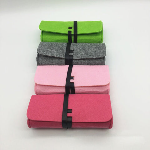 Top-grade Felt Cloth Sunglasses Boxes High Quality Luxury Fabric Glasses Case Eyeglasses Accessories Eyewear Accessories