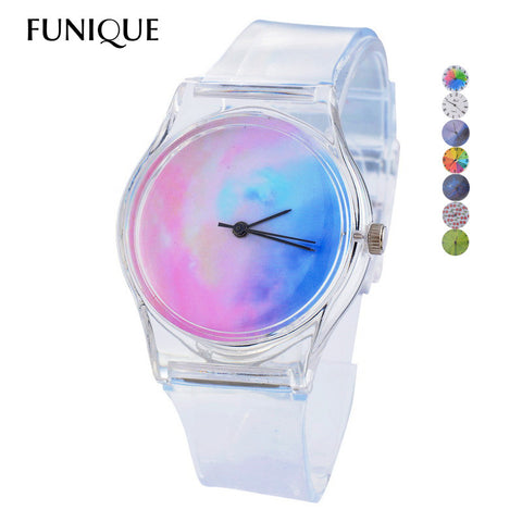 Transparent Clock Silicon Watch Women Sport Casual Quartz Wristwatches Novelty Crystal Ladies Watch Cartoon Reloj Mujer Watches