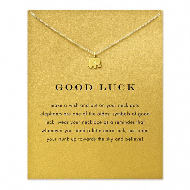 512d084190029 Vintage Sparkling Good Lucky Elephant Pendant Necklace Gold Plated Clavicle  Chains Statement Necklace Women Jewelry With Card