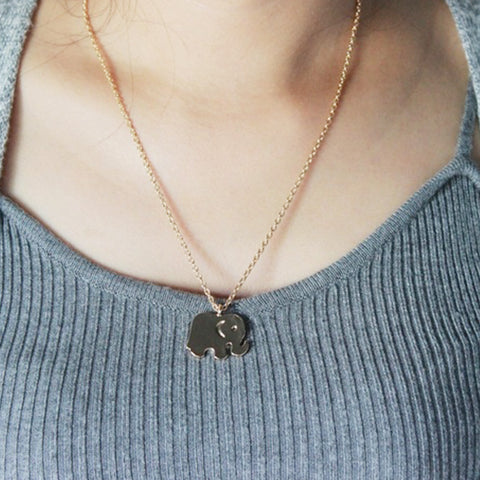 Vintage sparkling good lucky elephant pendant necklace gold plated vintage sparkling good lucky elephant pendant necklace gold plated clavicle chains statement necklace women jewelry with aloadofball Images