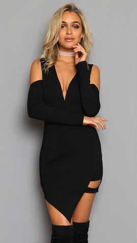 10a8d8db0dd1 Winter Party Women Dress Low Cut Sexy Night Club Dresses Off Shoulder –  Honeybee Line