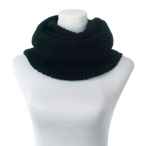 Women Winter Warm Infinity 2 Circle Cable Knit Cowl Neck Ring Scarf