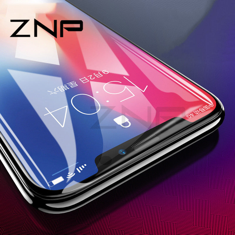 ZNP 4D 9H Full Cover Protective Tempered Glass For iPhone X