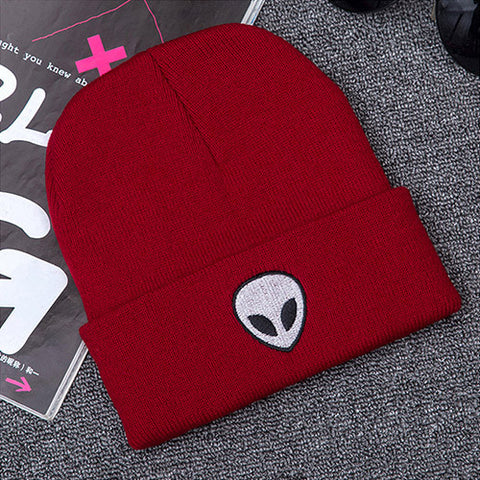 64e2cdb2dc3 illfly Women s Aliens Bonnet Saucer Space E.T UFO Knit Hat Embroidery –  Honeybee Line