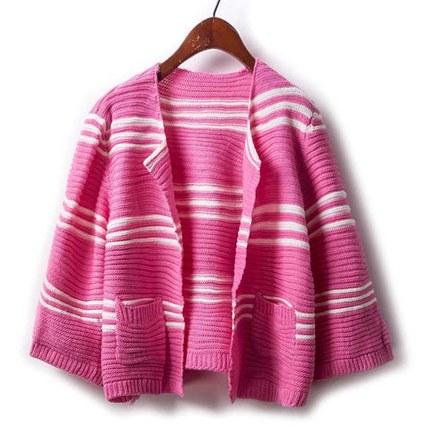 Casual Striped Knitted Cardigan