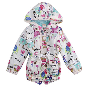 Children Boys Girls Long Sleeve Hooded Coat&Outerwear New Spring Windbreaker Baby Girl Jacket Kids Clothes Children Clothing