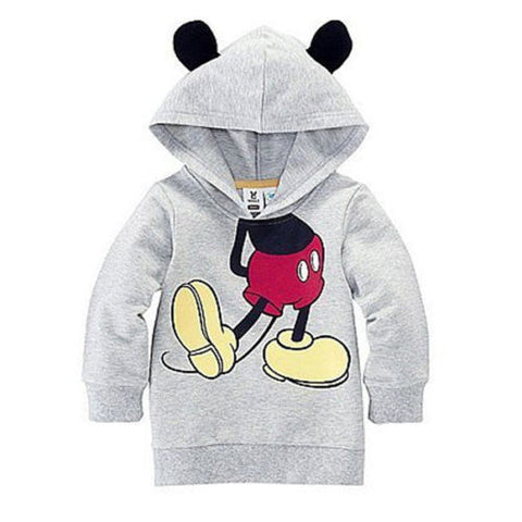 Fashion Baby Girls Boys Kids Cartoon Mouse Tops Hoodies Coat Clothes