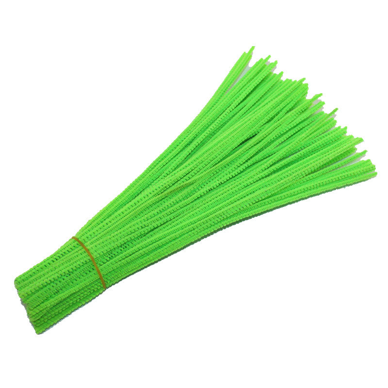 100pcs/lot  3MM  Chenille Stems Pipe Cleaners Kids Toys DIY Handicraft Materials For Creative Kids Educational Toys
