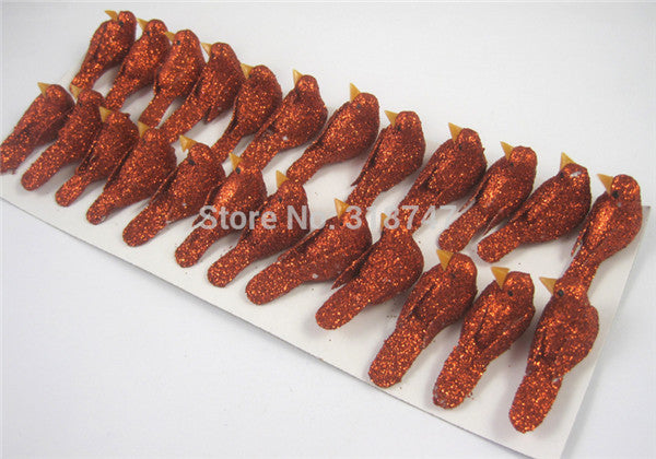 1.2*3cm Multicolor Foam Birds Decorative Birds Festival Gift  Diy Crafts 12pcs/lot  18010011(1.2*3D12)
