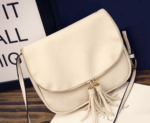 9f53600ecdaa Hot Sale Tassel Women bag Leather Handbags Cross Body Shoulder Bags Fa –  Honeybee Line