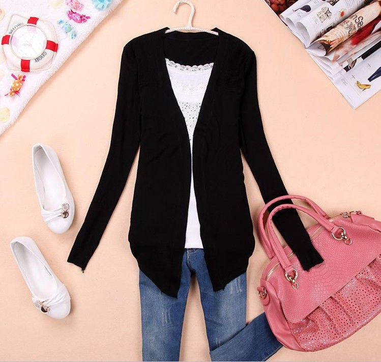 Long Sleeve Cardigan Knit Sweater