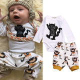 Cute Monster Bodysuit Romper + Pant 2pc