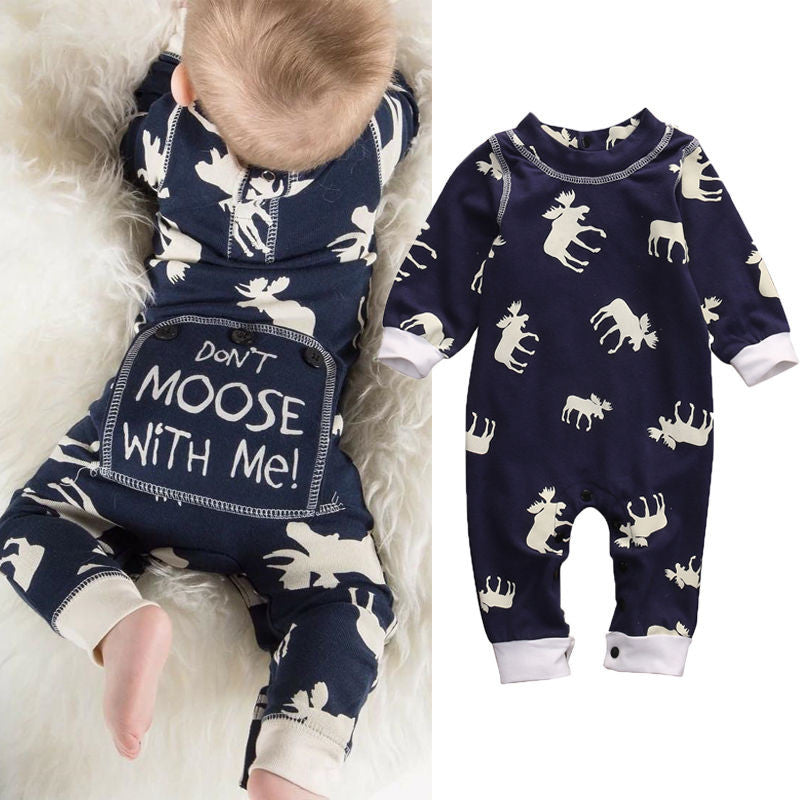 Cute Toddler Infant Baby Girl Boy Xmas Clothes Long Sleeve Romper Jumpsuit Pajamas XMAS Clothing Warm Outfits AU