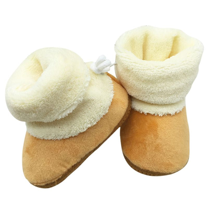 4c087e2ea1bed winter baby shoes boots infants warm shoes fur wool girls baby booties  Sheepskin Genuine Leather boy baby boots fur newborns