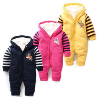 100% Cotton Winter Baby Rompers Newborn Baby Clothing Baby Girls Clothes Hoody Warm Jumpsuit For Baby Boy Products