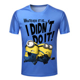 3d Printed Funny Despicable Me Man Clothing Round Neck Plus Size S-4XL - Honeybee Line