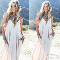 (Vintage Chiffon Dress Long Maxi Evening Party  )