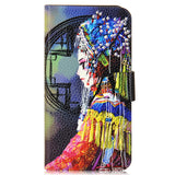 Chinese Style Paiting Bird Flower PU Leather Flip Case Cover For Motorola moto G4 Plus