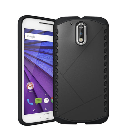 Hard Case for Moto G4 Shockproof Dust Proof Silicon+PC Tough Hybrid Armor Cover