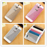 For HTC ONE M8 M7 M9 Case Fundas Luxury Slim Hard Flash Plastic Cover Diamond Bling Crystal Shinning Capa Ultra Thin Phone Shell - Honeybee Line
