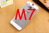 For HTC ONE M8 M7 M9 Case Fundas Luxury Slim Hard Flash Plastic Cover Diamond Bling Crystal Shinning Capa Ultra Thin Phone Shell