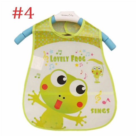 New Cartoon Kids Turn Translucent Plastic Bibs Child