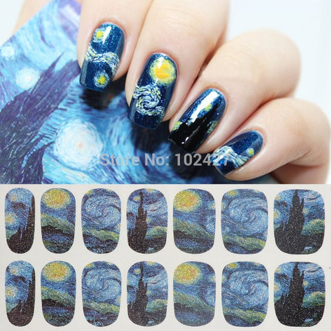 Nail Stickers Nail Art Wrap Tips Decoration