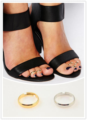1lot=4pieces New fashion accessories jewelrysimple Foot Ring size adjustable  for women girl nice gift AN50