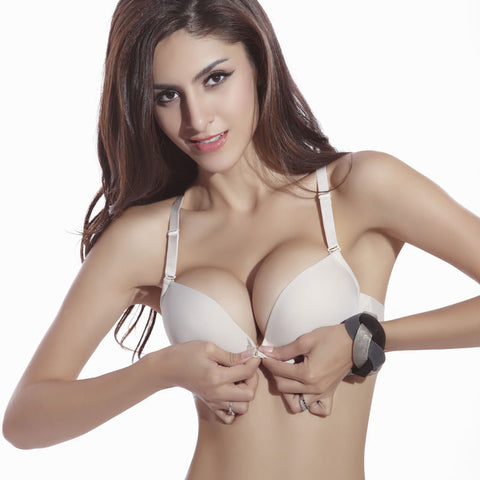 06063a0457bc9 New Fashion Size Brassiere C Cup Front Closure Sexy Seamless Adjustable push  up Bras Women Cotton ...