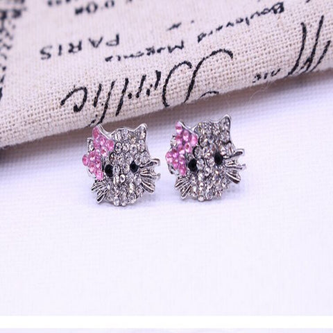 Christmas Cat Earrings Genuine SWA