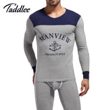 1 set Brand New autumn Men's Pajamas sets Fashion Long Sleeve Men Home Wear Cotton lounge set sleepwear  keep warm sleeve