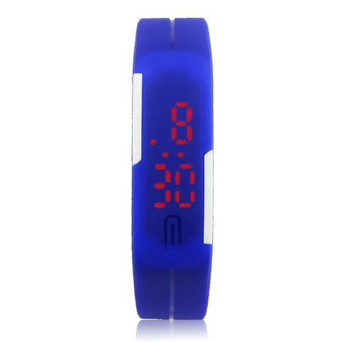 2016 Hot Sale New Ultra Thin Men Girl Sports Silicone Digital LED Sports Wrist Watch BU Good-looking Mar 24