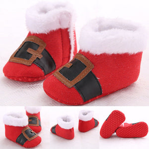 Newborn Infant Baby Patchwork Firstwalker Sneakers Shoes Toddler Warm Sole Shoes