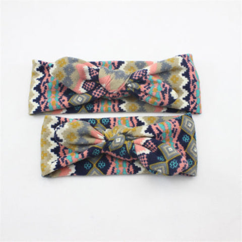 10Style !Mother Daughter Matching Headband Cute Floral Elastic Cloth Bowknot Headband