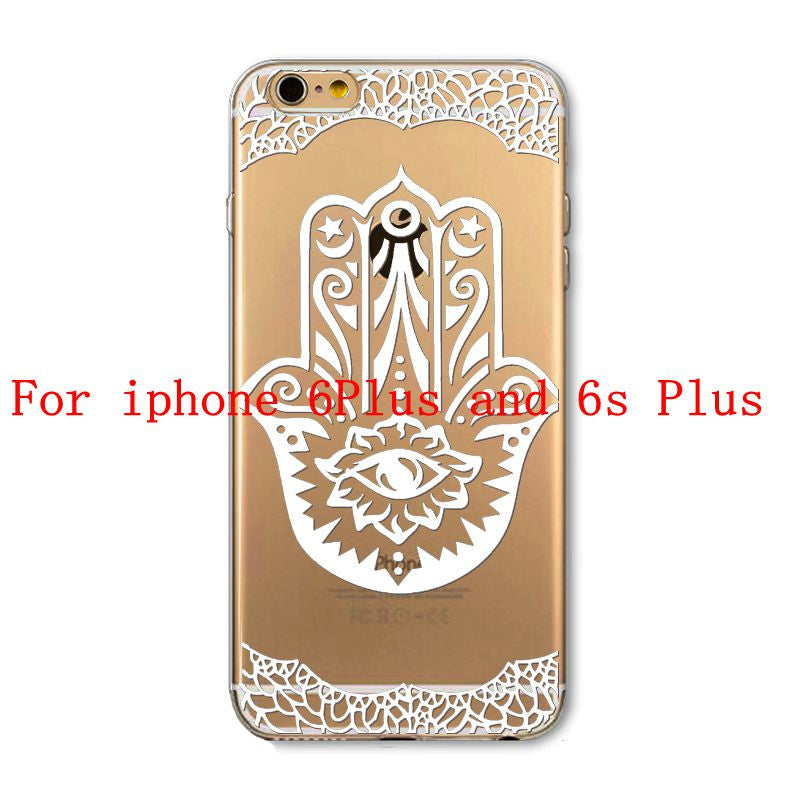 Phone Cases for Apple iPhone 4 4S 5 5S SE 5C 6 6S 6Plus 6s Plus HENNA DREAM CATCHER Ethnic Tribal TPU Silicon Covers Capa Back - Honeybee Line - 6