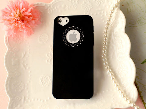 HIgh Quality Candy Color Loving Heart Flower Lace Hard Phone Cases - Honeybee Line