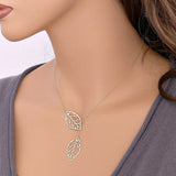 Double Leaf Necklace - Honeybee Line