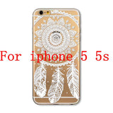 Phone Cases for Apple iPhone 4 4S 5 5S SE 5C 6 6S 6Plus 6s Plus HENNA DREAM CATCHER Ethnic Tribal TPU Silicon Covers Capa Back - Honeybee Line - 18