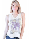 Summer Tops Fashion Sleeveless Women Tank Top Harajuku Elephant Print Crop Top Camisetas Sport V-neck camisole tees 63 - Honeybee Line - 1