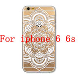 Phone Cases for Apple iPhone 4 4S 5 5S SE 5C 6 6S 6Plus 6s Plus HENNA DREAM CATCHER Ethnic Tribal TPU Silicon Covers Capa Back - Honeybee Line - 16