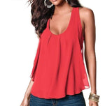 Women's Summer Chiffon Sleeveless Blouse - Honeybee Line - 5