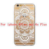 Phone Cases for Apple iPhone 4 4S 5 5S SE 5C 6 6S 6Plus 6s Plus HENNA DREAM CATCHER Ethnic Tribal TPU Silicon Covers Capa Back - Honeybee Line - 13