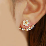 Korean Fashion Imitation Pearl Earrings Small Daisy Flowers Hanging - Honeybee Line