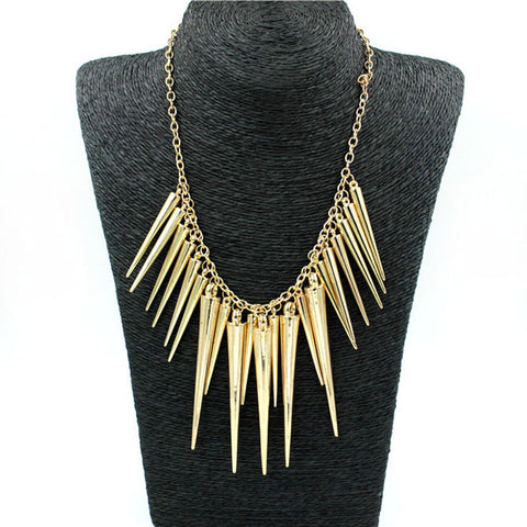 Collier choker long big Vintage feather Necklaces - Honeybee Line - 2