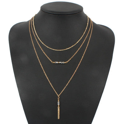 chain necklace multi layer necklaces amp pendants - Honeybee Line